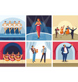 concerts dancing and singing show opera and ballet vector image vector image