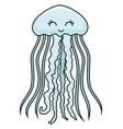 cute jellyfish smiling vector image