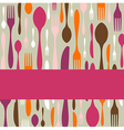 Cutlery pattern invitation vector image vector image