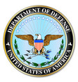 department of defense vector image vector image