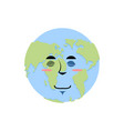 earth sleeping emoji planet asleep emotion vector image vector image