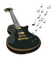electric guitar makes a sound colored guitar vector image vector image