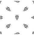 electric plug pattern seamless vector image
