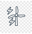 eolic energy concept linear icon isolated on vector image