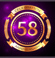 fifty eight years anniversary celebration with vector image vector image