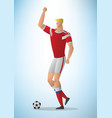 football player 01 vector image vector image
