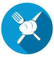 fork and knife icons vector image vector image