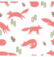 foxes seamless background stylization in the vector image vector image