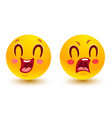 funny and sad smiles vector image vector image