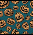 halloween colorful vintage seamless pattern vector image vector image