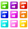 hand hoding paint roller set 9 vector image