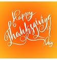 Handwritten Thanksgiving Day lettering vector image