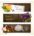 Herbs and spices banners horizontal vector image vector image