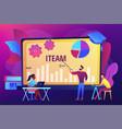 it management courses concept vector image vector image