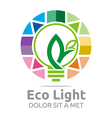 lamp eco light bulb design icon vector image