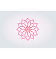 lotus flower watercolor style logo vector image vector image