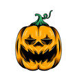 monster yellow pumpkin with big smile and vector image