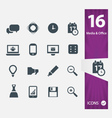 Office Media icons vector image