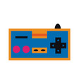 old gamepad controller pop art colors vector image