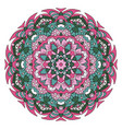 oriental ornament relaxing mandala doodle round vector image vector image