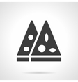 Pizza slices glyph style icon vector image