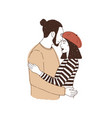 portrait of young couple or lovers on date man vector image vector image