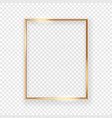 realistic shining golden picture frame on a wall vector image vector image