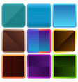 rounded square color frames vector image vector image