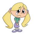 sad girl crying vector image