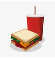 Sandwich of fast food concept vector image vector image