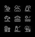 set line icons landscape vector image
