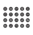 set of 20 business thin line icons vector image