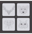 set of animals over gray background vector image