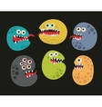 Set of cute virus monsters vector image