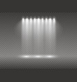 set of golden glowing lights effects isolated on vector image vector image