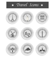 Set of Icons Travel vector image vector image