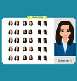 set of womans emotions design expression vector image vector image