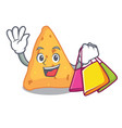 shopping nachos character cartoon style vector image