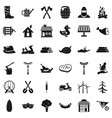 shovel icons set simple style vector image