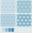 snowflakes blue pattern vector image vector image
