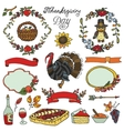 Thanksgiving dayDoodle collectionColorful set vector image vector image