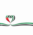 united arab emirates flag heart-shaped ribbon vector image vector image