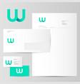 w logo letter monogram identity vector image