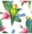 Watercolor exotic seamless background