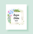 wedding invitation card save date thank you vector image
