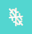 white snowflake isometric object vector image vector image
