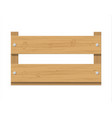 wooden fruit box product drawer front view vector image
