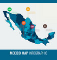 mexico map infographic template all regions are vector image