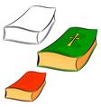 Set of cartoon books eps10 vector image