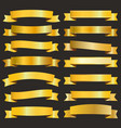 golden ribbons pack vector image